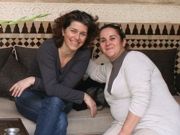 Luarence et moutaa -directrice riad chamali - marrakech - morocco