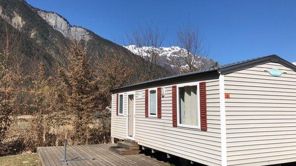 Mobil-home camping familial montagne Alpes d'Huez