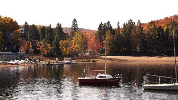 couleurs d automne vue sur le lac