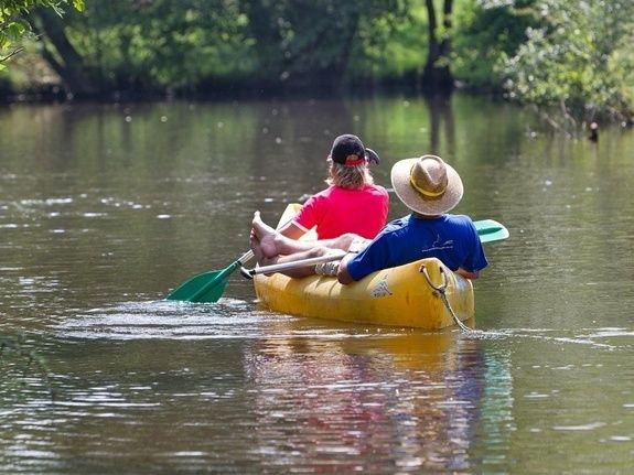 canoe charente camping