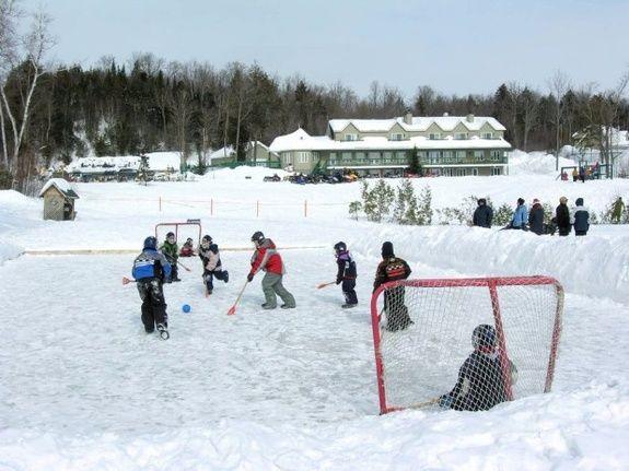 Pourvoirie du lac blanc saint alexis des monts equipements hivernaux