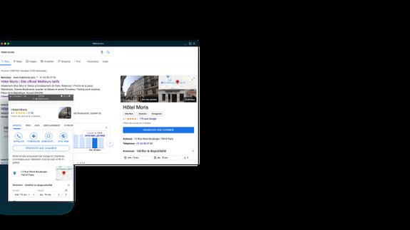 google my business hotel