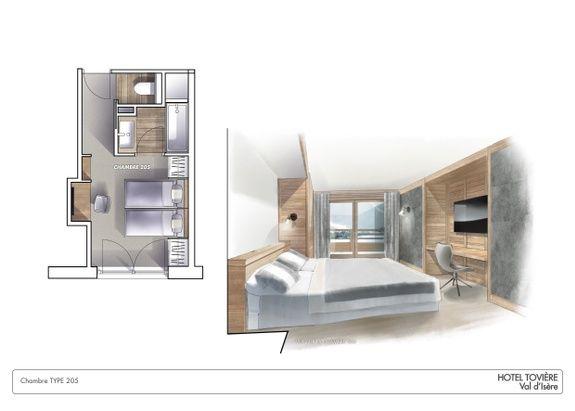 Chambre-classique-hotel-4etoiles-val-d'isere