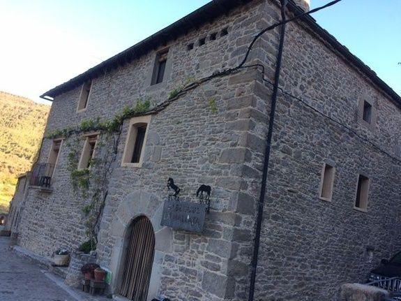 Entrée de l'Auberge «La Mallata»