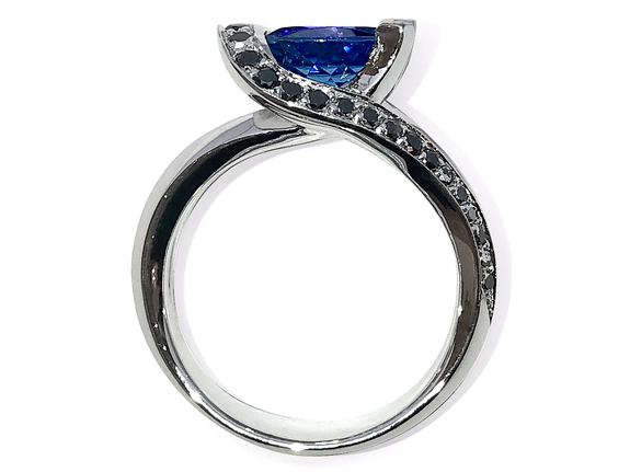 Manjo Bague Or Tanzanite