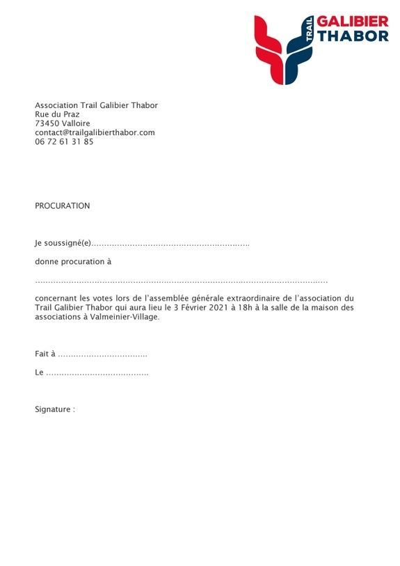 3 Procuration AG Trail Galibier Thabor 2020