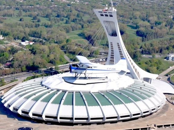 Le parc olympique en hydravion