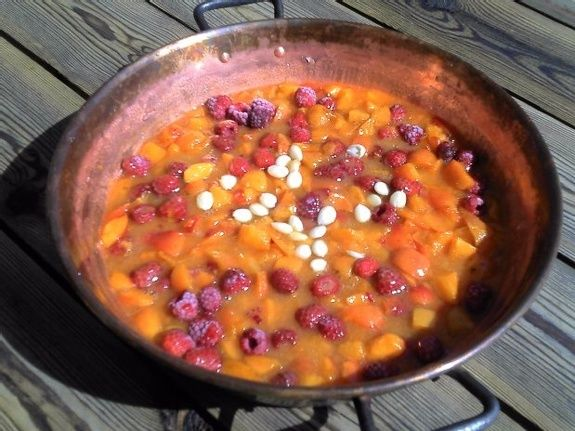 Confiture abricots framboise