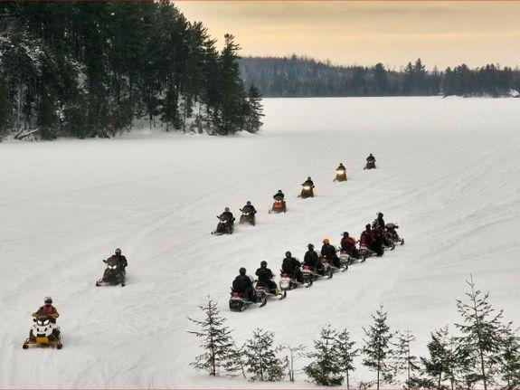 Pourvoirie du lac blanc saint alexis des monts motoneige