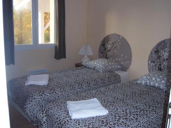 twin room Etang Vallier Resort Brossac Charente