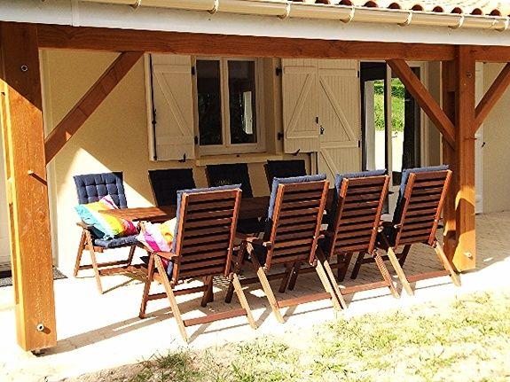 Terrasse villa fan 3 chambres les chênes etang vallier