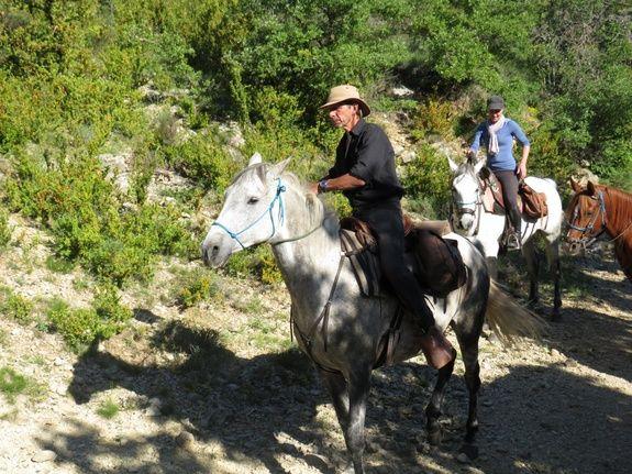 Bertrand en randonnée dans la Sierra