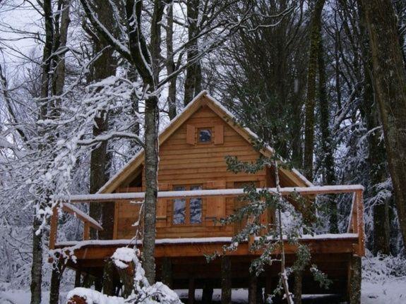 Cabane du Saut du Chevreuil neige