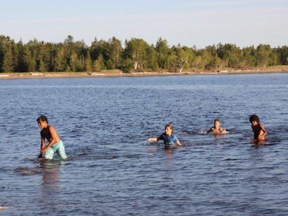 Baignade baie de Gaspé