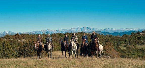 La châine des Pyrénées depuis Los Fenales