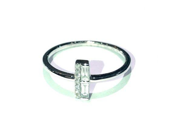 Manjo Bague Or Gris diamants