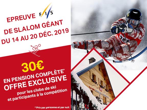 épreuve FIS Valloire 2019