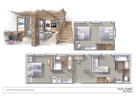 grande-suite-duplex-hotel-4etoiles-val-disère-face-aux-pistes