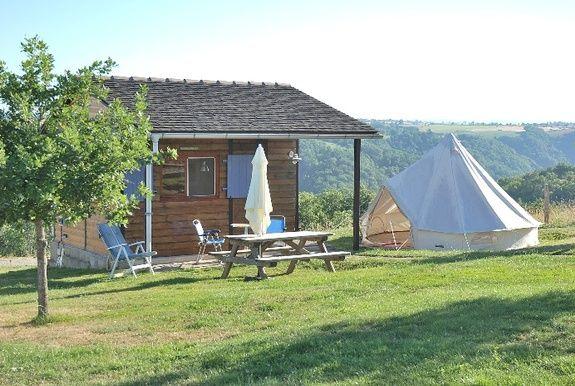 camping Le Clapas chalet Sahara/berbertent