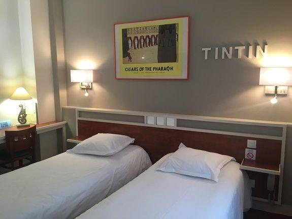 Chambre à deux lits jumeaux