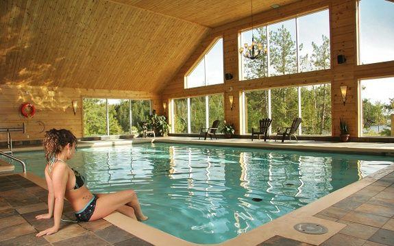 pourvoirie du lac blanc saint alexis des monts piscine