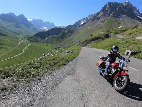 moto grande route des Alpes