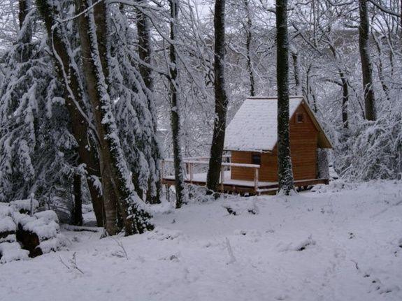 Cabane du Saut du Chevreuil intérieur neige