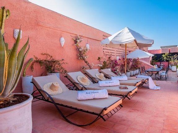 bain de soleil terrasse riad chamali médina marrakech