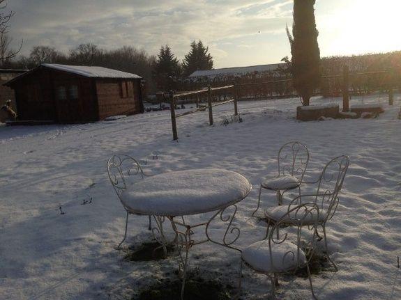 Mon chalet atelier sous la neige