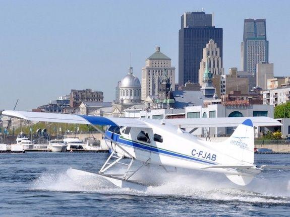 floatplane over Montreal