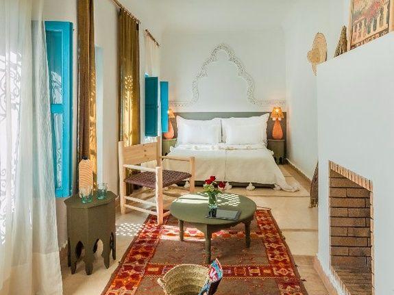 chmabre triple riad chamali médina marrakech Maroc