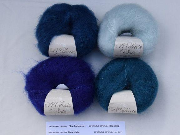 laine mohair et soie