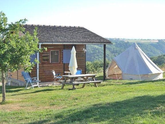 camping Le Clapas, chalet y tienda bereber