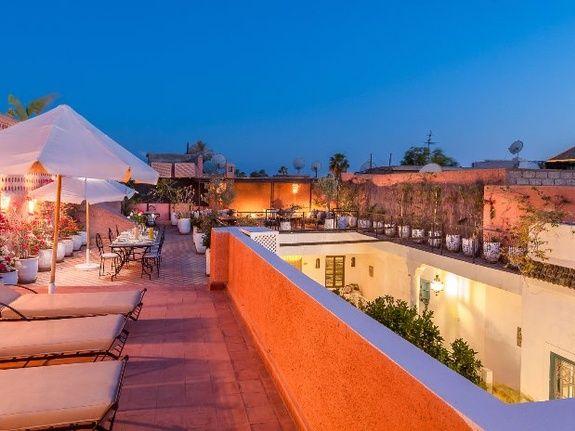 terrasse de nuit riad chamali médina marrakech Maroc