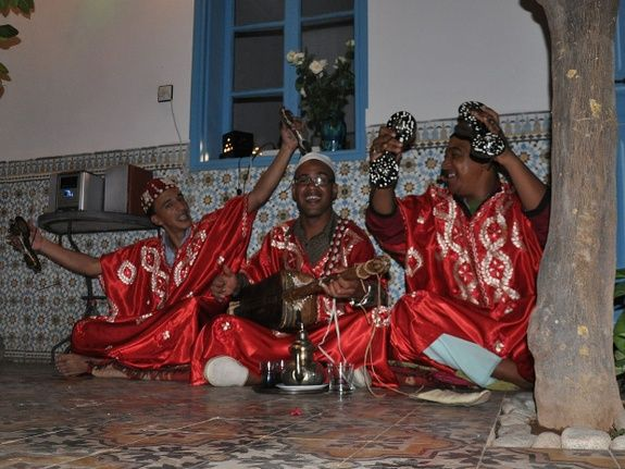animation musique le soir - riad chamali - maroc - marrakech